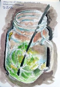 mojito in mason jar